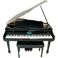 Suzuki MDG-4000ts TouchScreen 88-key hammer action Baby Grand Digital Piano Black (MDG-4000)