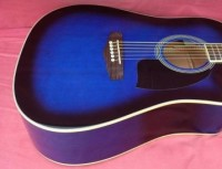 Ventura VWDOBLUE-BST Blue Burst acoustic dreadnaught guitar (VWDOBLUE-BST)