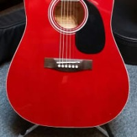 Ventura VWDORED Red acoustic dreadnaught guitar (VWDORED)